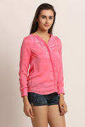Collar Lace Casual Shirt - MODA ELEMENTI
