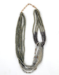 Bead Layered Rust Green Necklace - MODA ELEMENTI