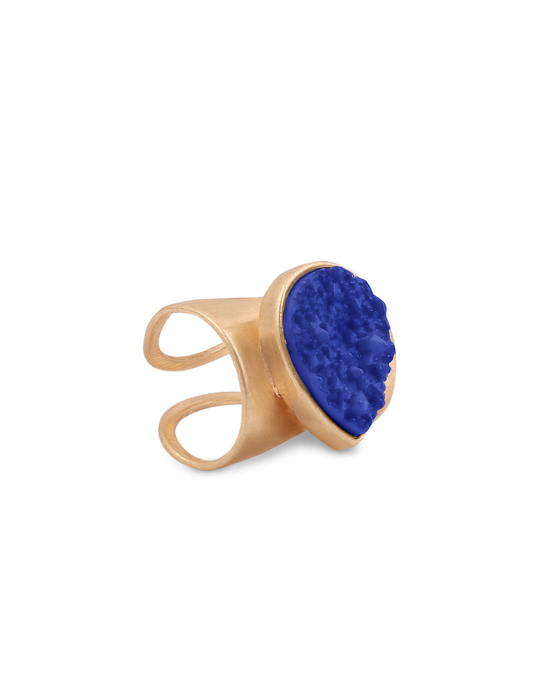 Sea Rock Statement Blue Ring - MODA ELEMENTI