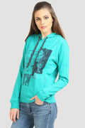 Full Sleeve Printed Hooded Fleece Sweatshirt - MODA ELEMENTI