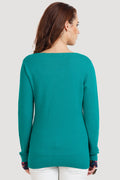 Printed V Neck Plain Top - MODA ELEMENTI