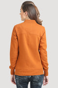 Printed Full Sleeve Zipper Sweatshirt - MODA ELEMENTI