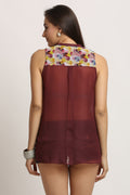 Wild Flower Printed Casual Top - MODA ELEMENTI