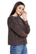 Self Stripe Fall Shoulder Jumper