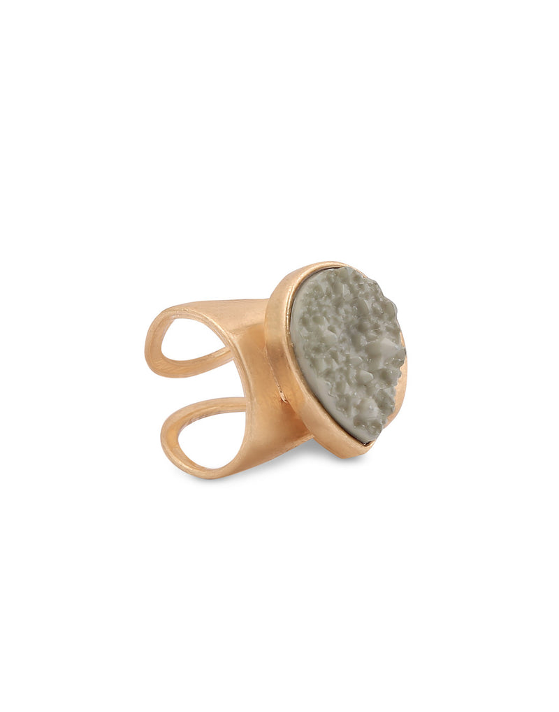 Sea Rock Statement Grey Ring - MODA ELEMENTI