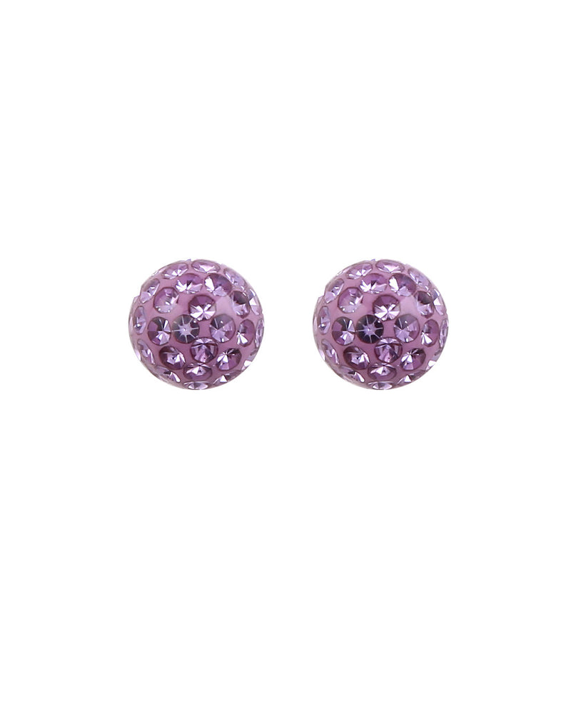 Violet Ball Stud with Stone Protector - MODA ELEMENTI