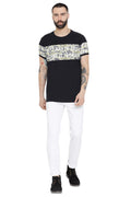Axmann Printed Round Neck Casual T-Shirt