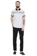 Axmann Solid Striped Polo T-Shirt