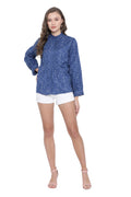 Front Pleated Buttoned Casual Shirt