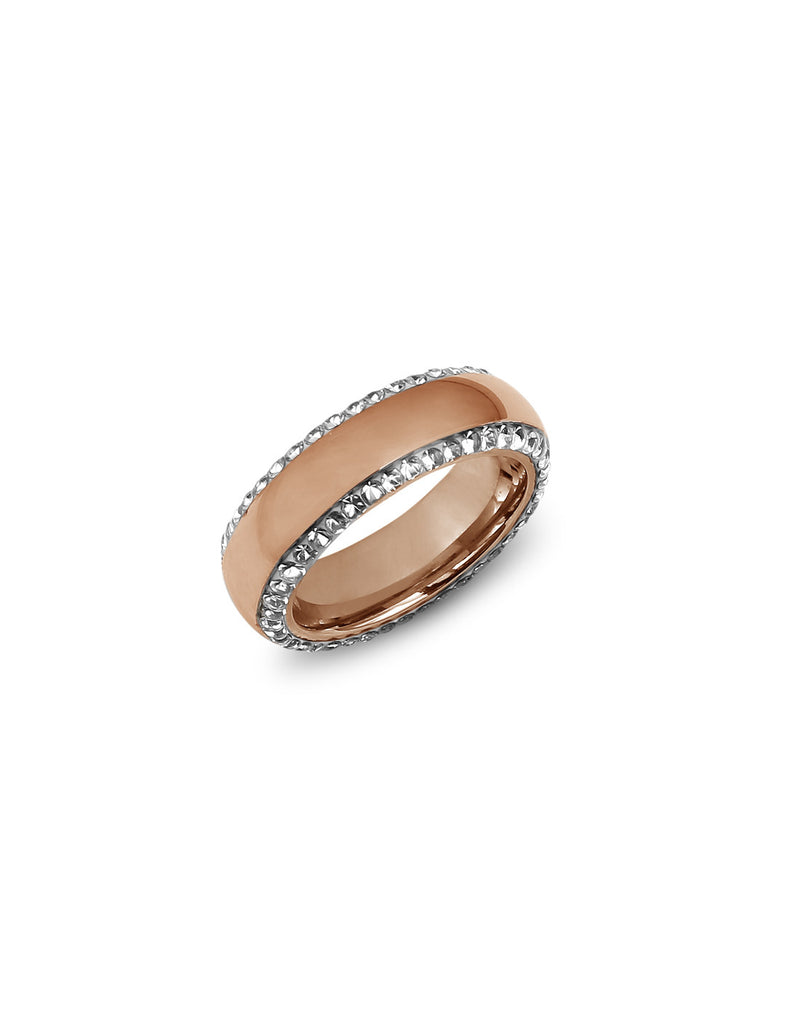 Statement Band Rose Gold Ring - MODA ELEMENTI