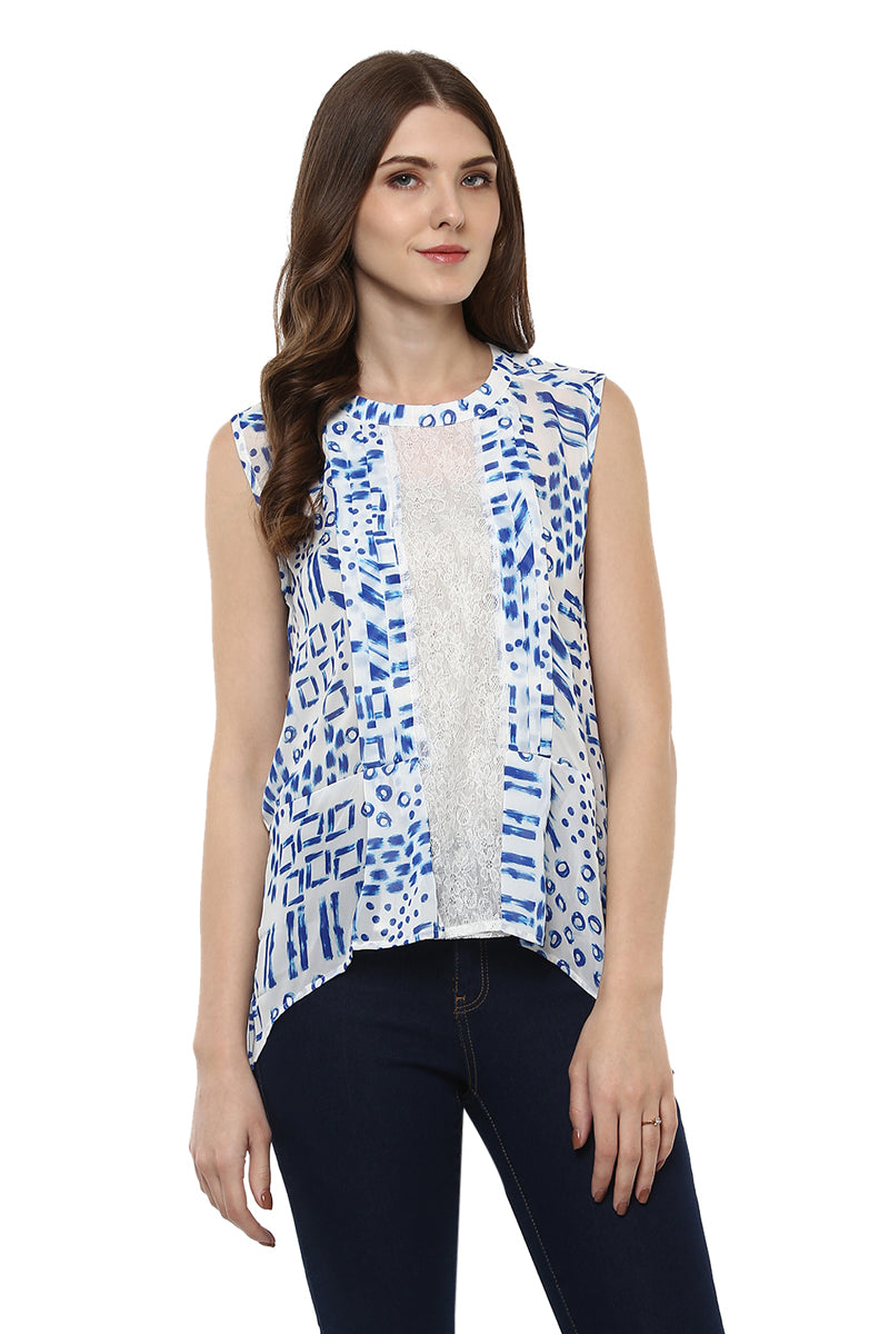 Self Designed Sleeveless Casual Top - MODA ELEMENTI
