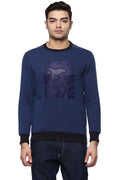Axmann Round Neck Self Designed Sweatshirt - MODA ELEMENTI