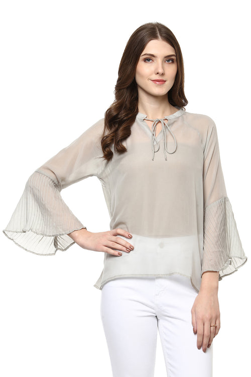 Evening Breeze Bell Sleeve Top - MODA ELEMENTI