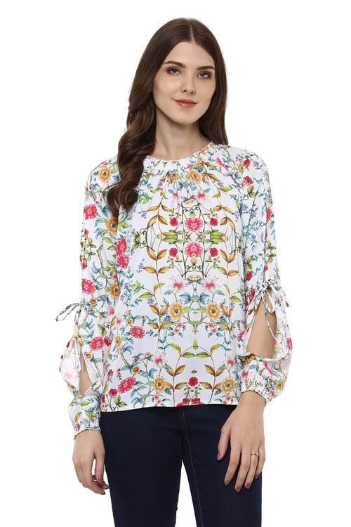 Floral Printed Full Sleeve Casual Top