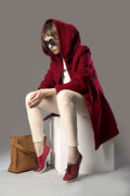 Classic Wine Long Coat - MODA ELEMENTI