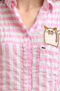 Meow Patch Casual Shirt - MODA ELEMENTI