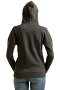 Front Zipper Hooded Plain Sweatshirt - MODA ELEMENTI