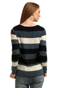 Boat Neck Striped Jumper - MODA ELEMENTI