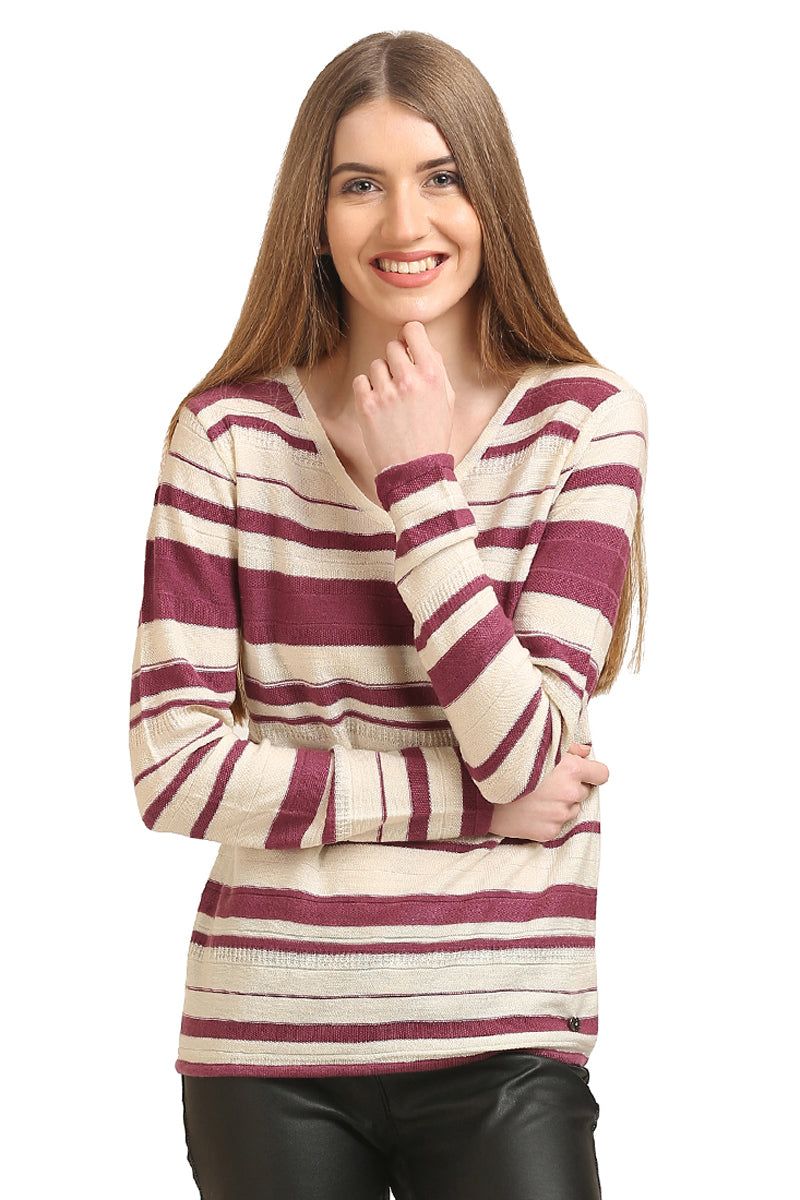 Striped Full Sleeve Pullover