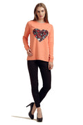 Abstract Hearts Full Sleeve Winter Top - MODA ELEMENTI