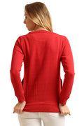 Round Neck Basic Full Sleeve Sweatshirt - MODA ELEMENTI