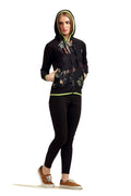 Full Sleeve Pattern Hooded Sweatshirt - MODA ELEMENTI