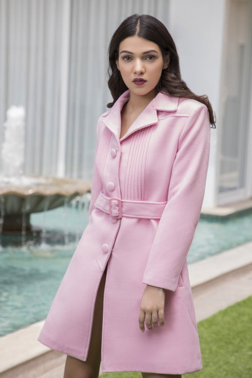 Pink Blush Trench Coat