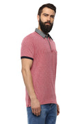 Axmann Solid Polo Neck Half Sleeve Casual T-Shirt - MODA ELEMENTI