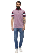 Axmann Self Designed Polo Neck Half Sleeve Casual T-Shirt - MODA ELEMENTI
