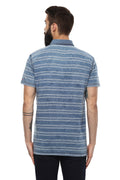 Axmann Striped Collar Casual T-Shirt - MODA ELEMENTI