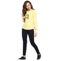 Yellow Solid Round Neck Winter Top - MODA ELEMENTI