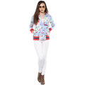 Birds Printed Zipper Sweatshirt - MODA ELEMENTI
