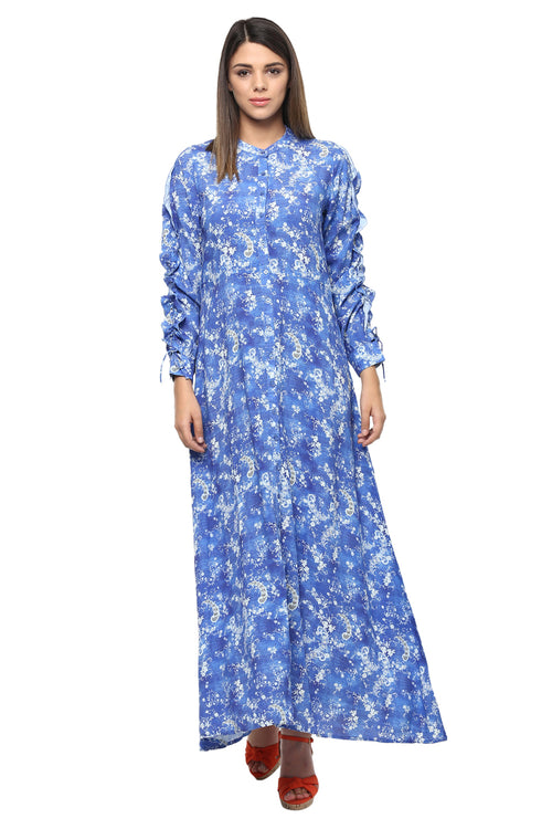 Royal Blue  A-Line Dress - MODA ELEMENTI