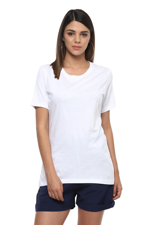 Round Neck Short Sleeve Basic Tee - MODA ELEMENTI