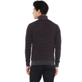 Axmann Full Sleeve Striped Zipper Sweatshirt - MODA ELEMENTI