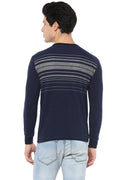 Axmann Round Neck Striped Pullover