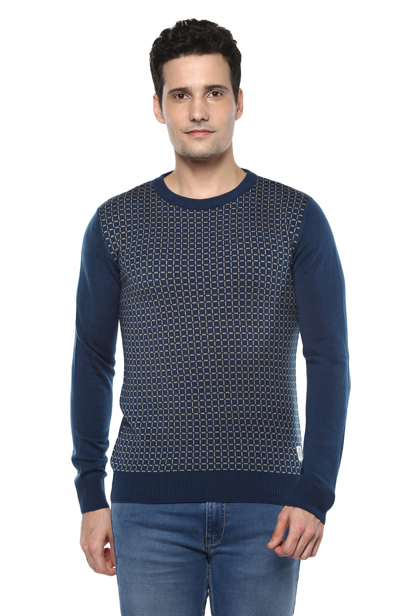 Axmann Round Neck Checkered Jumper - MODA ELEMENTI