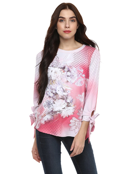 High Street Fashion Floral Printed Winter Top - MODA ELEMENTI