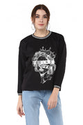 Blind Love Printed Round Neck Winter Top - MODA ELEMENTI