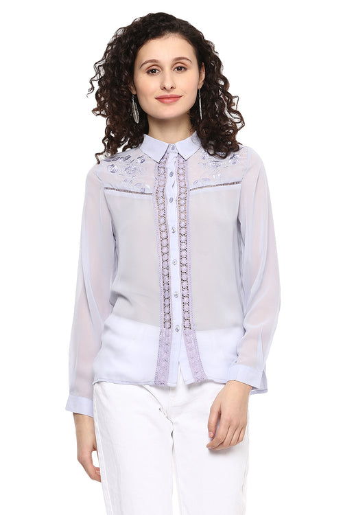 Floral Embroidered Casual Shirt - MODA ELEMENTI