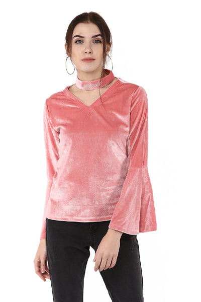 Attitude Bell Sleeve V Neck Winter Top - MODA ELEMENTI