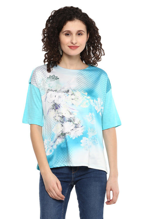Self Designed Round Neck Top - MODA ELEMENTI