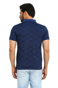 Axmann Zig Zag Polo Neck Casual T-Shirt