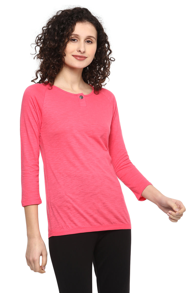 Full Sleeve Solid U Neck Premium T-Shirt - MODA ELEMENTI