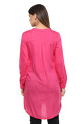Pintuck Buttoned Casual Tunic - MODA ELEMENTI