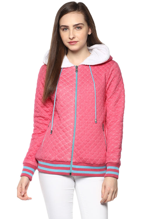 Full Sleeve Zipper Hooded Sweatshirt