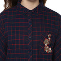 Checkered Full Sleeve Embroidered Winter Shirt - MODA ELEMENTI