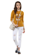 Full Sleeve Casual T-Shirt Combo Pack (White | Mustard) - MODA ELEMENTI