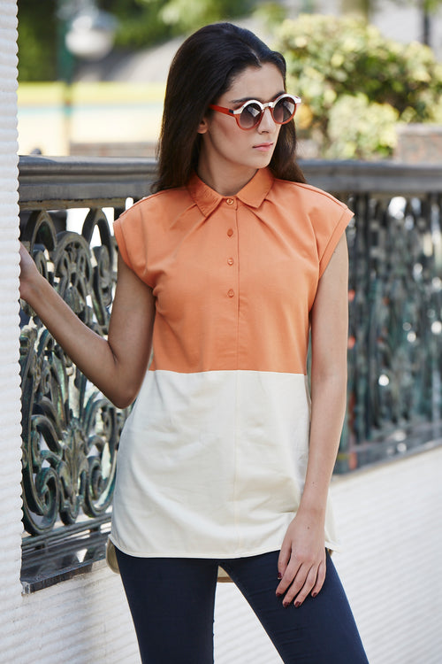 Color Block Polo T-Shirt - MODA ELEMENTI