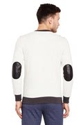 Axmann Round Neck Self Designed Sweatshirt